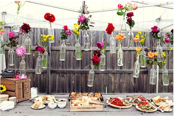 Inspirasi diy dekorasi wedding outdoor for Handmade garden decoration ideas