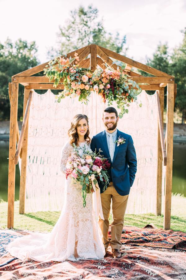 Ruffled - photo by Cara Robbins Photography http://ruffledblog.com/floral-inspired-treehouse-wedding