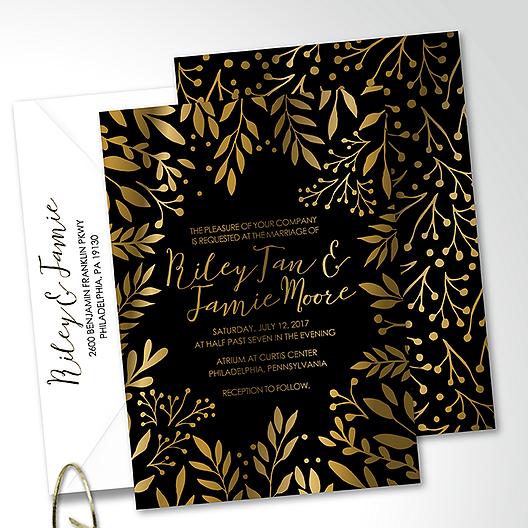 Kartu Undangan Pernikahan Motif Floral