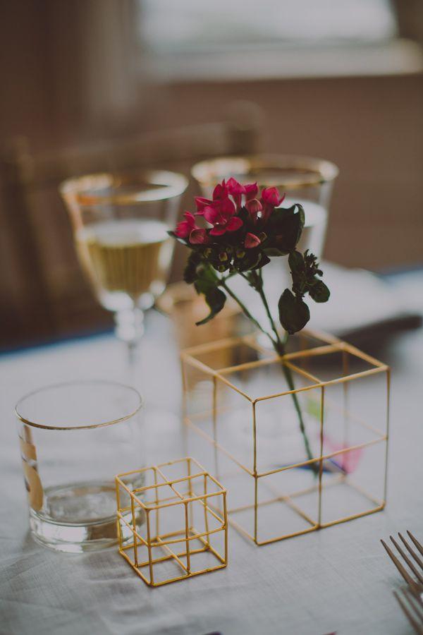Modern-centerpieces-geometric-gold-cubes