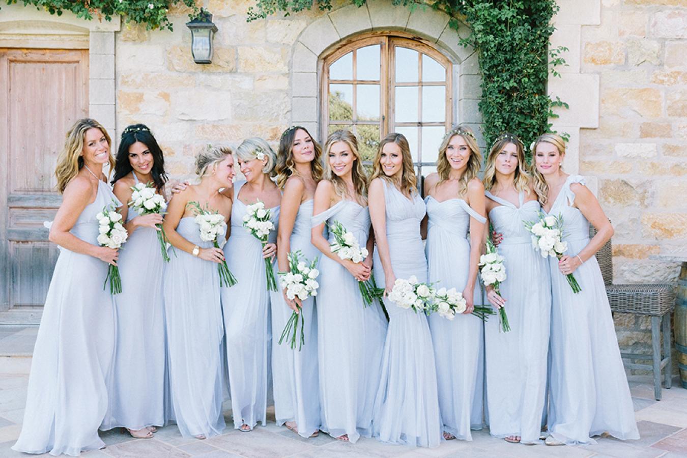 pemilihan warna baju bridesmaids